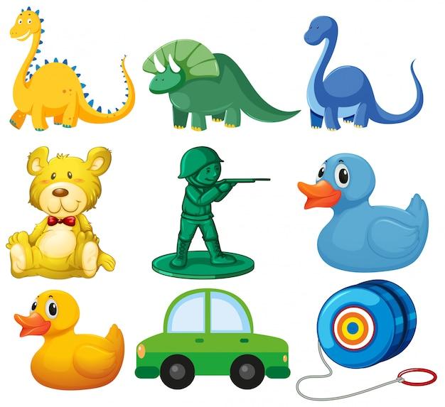 Set von kinderspielzeug