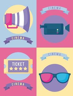 Set von kinofilmen