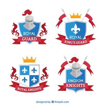 Set von königlichen ritter embleme