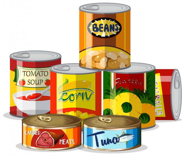 Set von konserven
