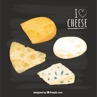 Set von leckeren käse