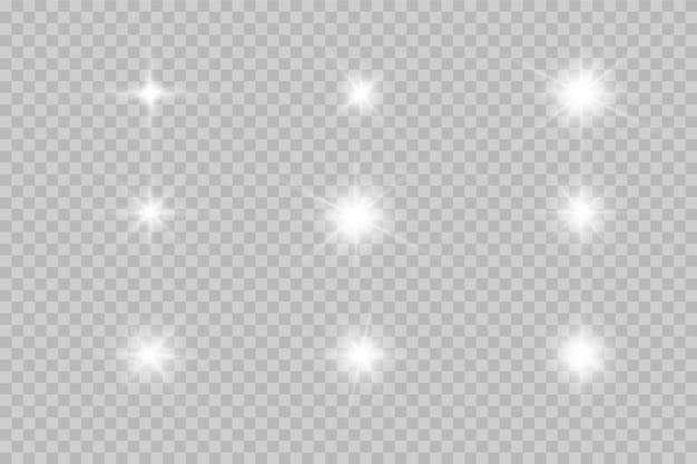 Set von leuchtenden lichteffekten