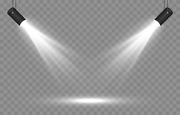 Set von licht. lichtstrahleffekt
