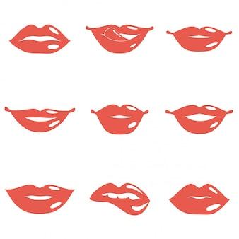 Set von lippen
