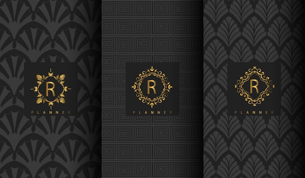 Set von luxus-logo