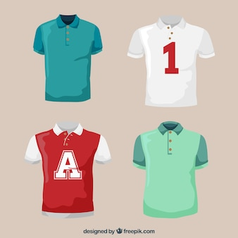 Set von männlichen sport polo shirts