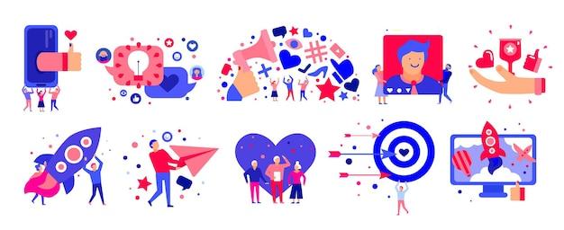 Set von marketing-icons