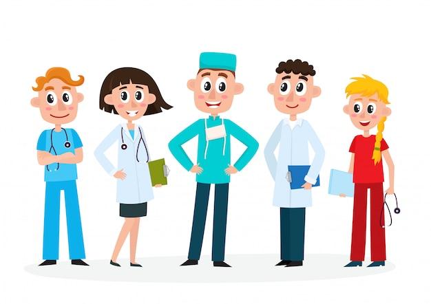 Set von medizinischem personal