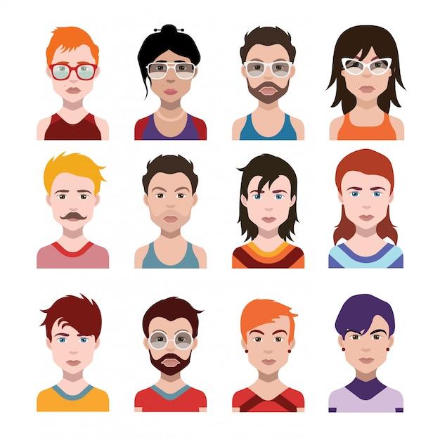 Set von menschen icons