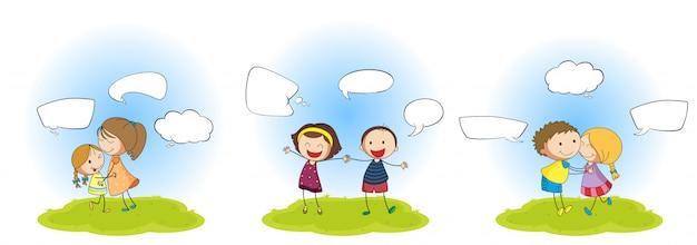 Set von menschen mit sprechblase
