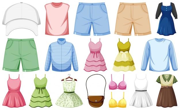 Set von mode-outfits