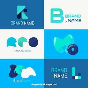 Set von modernen abstrakten logos