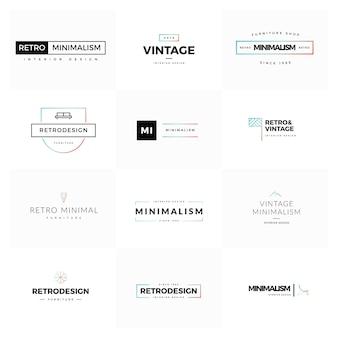 Set von modernen und minimal vintage vektor-logos