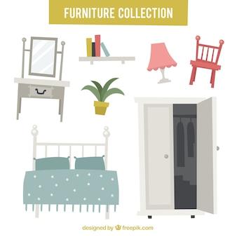 Set von möbeln und dekorationen