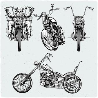 Set von motorrädern