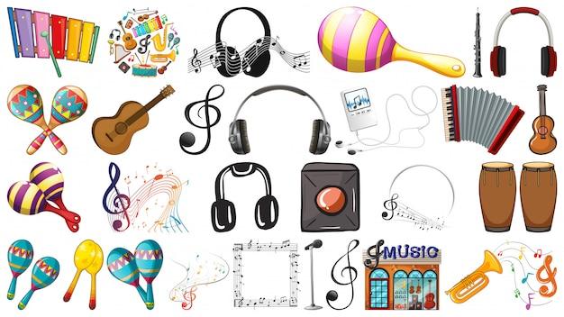 Set von musikelementen