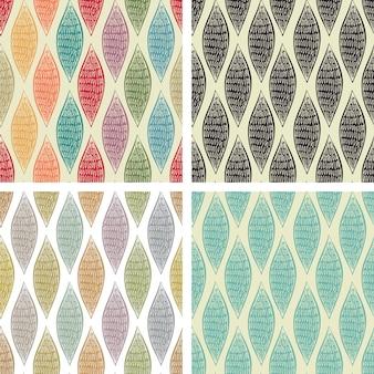 Set von nahtlosen abstrakten mustern