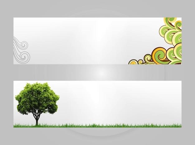 Set von natur-banner