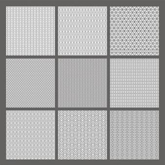 Set von neun abstrakte nahtlose muster.