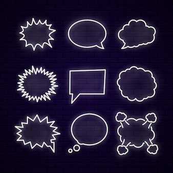 Set von neun verschiedenen comic-elementen