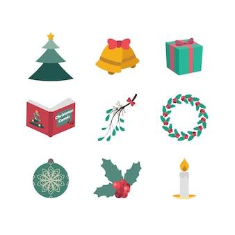 Set von neun verschiedenen weihnachtsthemen