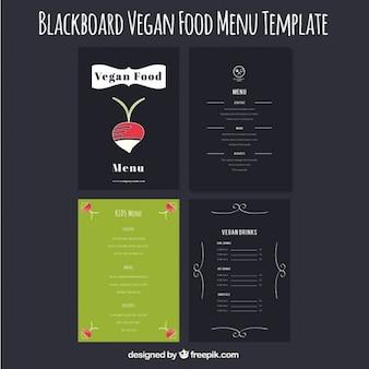 Set von niedlichen hand gezeichnet vegan menüs
