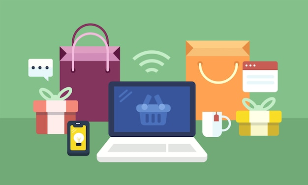 Set von online-shopping-icons