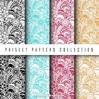 Set von paisley-muster