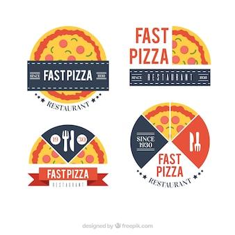 Set von pizza-logos