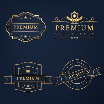 Set von premium-abzeichen vektor