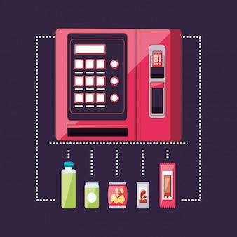 Set von produkten für dispenser maschine