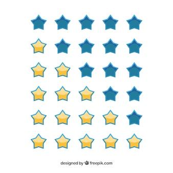 Set von ranking sternen