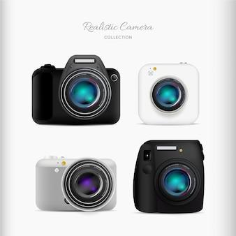 Set von realistischen kameras