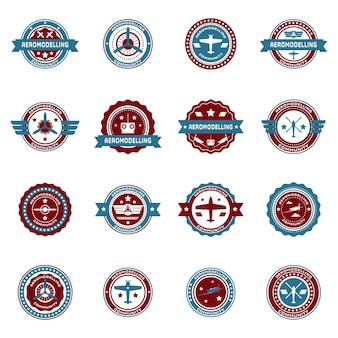 Set von retro aero-logo