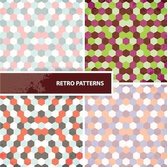 Set von retro-mustern