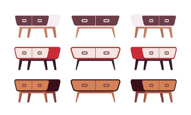 Set von retro-sideboards