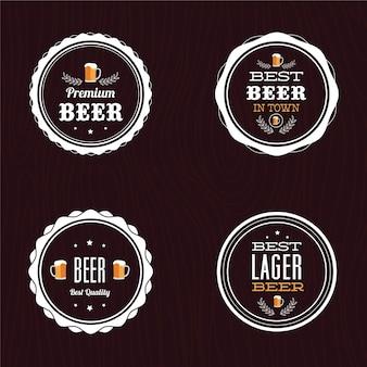 Set von retro-stil bier etiketten