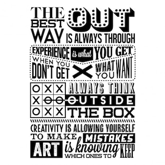 Set von retro vintage motivational quotes