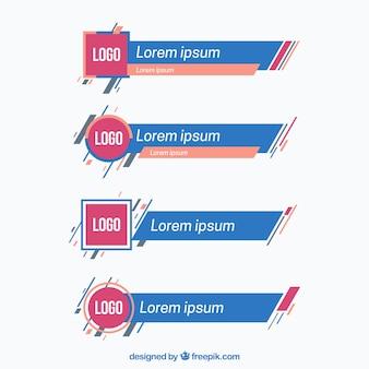 Set von röcken mit logo