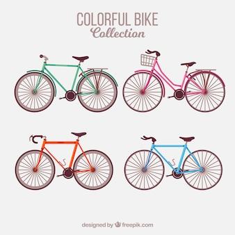 Set von schönen fahrrädern