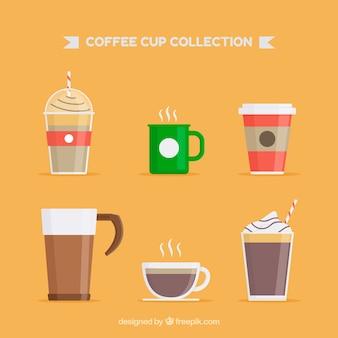 Set von sechs kaffeetassen