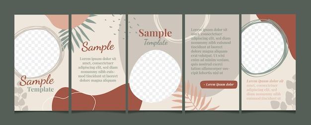 Set von social-media-design-vorlagen für social-media-posts, die werbung für werbung und marketing machen