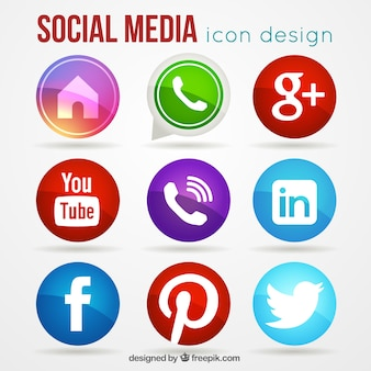 Set von social-media-icons