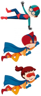 Set von superheo-kindern