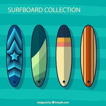 Set von surfbretter in abstrakten design