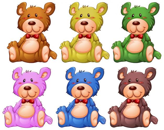 Set von teddybären