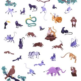 Set von tieren