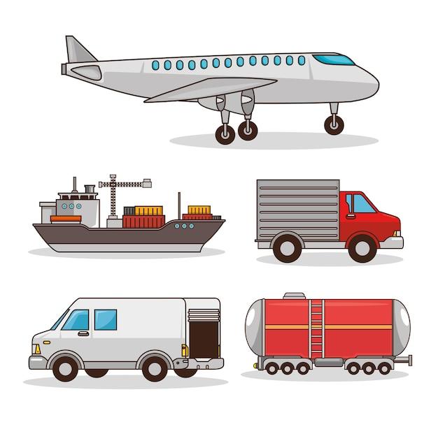 Set von transportmitteln