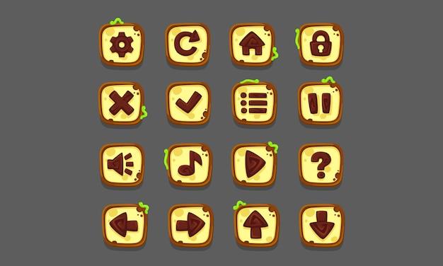 Set von ui-elementen für 2d-spiele und apps, game ui part 1