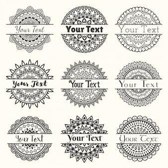 Set von vektor-vorlagen von mandala-logos